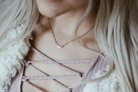 tiny name necklace tiny script name necklace jays jewels