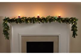 battery lighted fall garland 9 ft battery operated garland sharper image