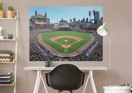 Comerica Park Map Detroit Tigers Comerica Park Behind Home Plate Mural Wall Decal
