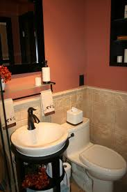 Tiny Bathroom Ideas Colors Love This Coral Paint Color With The Black And Oil Rubbed Bronze