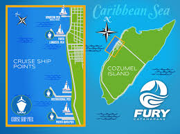 Map Cozumel Mexico by Carnival Cruises Beach Sail And Snorkel Cozumel Fury