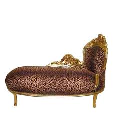 african wild cat print chaise longue baroque living room furniture