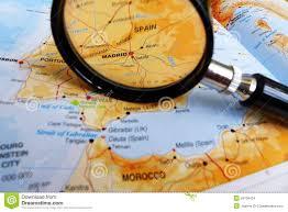 Madrid Spain Map Focus On Madrid Spain Stock Images Image 29199424