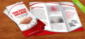 brochure 3 fold template psd tri fold brochure psd template free psd files