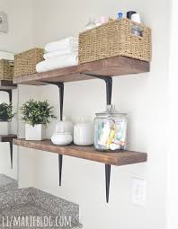 Bathroom Shelve Diy Rustic Wood Metal Bathroom Shelves Liz