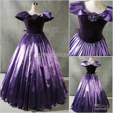2017 custom made new patrician purple cap sleeves gothic