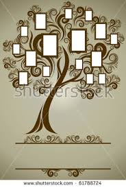 vector family tree design frames autumn stock vector 61788724
