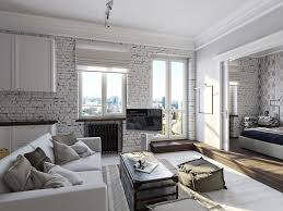Country Style Living Room by Alluring Country Style Living Rooms With Exposed White Brick Walls