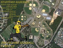 Baseball Map Stafford Little League Locations