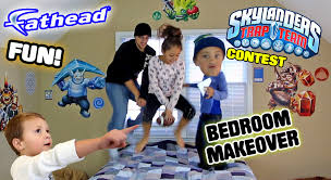 mike s bedroom upgrade skylanders trap team fathead wall decals skylanders trap team fathead wall decals w contest timelapse real big youtube