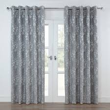 Next White Bedroom Curtains Blossom Silver Grey Floral Lined Eyelet Curtains Pair Julian
