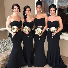 black bridesmaid dresses the classic black bridesmaid dresses univeart