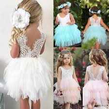 flower girl dress au kid princess baby flower girl dress lace backless party gown