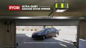 Syncing Garage Door Opener With Car by Ryobi Garage Door Opener Youtube