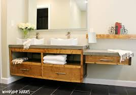 Furniture For Bathroom Vanity How To Build A Diy Modern Floating Vanity Or Tv Console