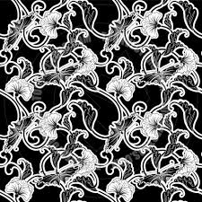 japanese pattern black and white ornate japanese inspired black and white repeating seamless tile