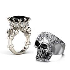 couples rings images Punk skull couples rings emily aria jpg