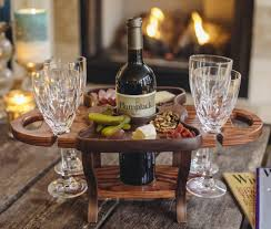 wine bottle holder wood wine caddy wine glass rack wine