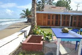 beach hostel futures rooms and the beach bar in cabarete