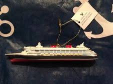 disney cruise line resin ornament figurine ship