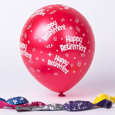 retirement balloons delivery multicoloured happy retirement balloons pack of 6 only 1 49