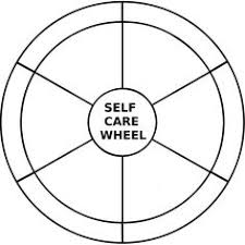 Counselor Self Care Tips Self Care Wheel Blank Therapy Ideas Co Occurring Disorders