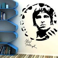 popular musical wall murals buy cheap musical wall murals lots order 1 piece noel gallagher oasi portrait art design wall sticker home room vinyl art decoration wall mural music