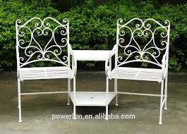 Steel Garden Bench 2 Seater Metal Garden Bench Ornate Cream Heavy Duty Steel Garden