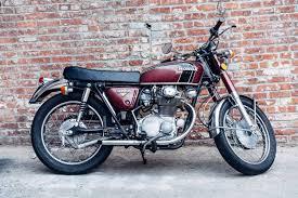 restored 1973 honda cb 350 super sport cafe racer motorcycle
