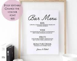 food menu templates printable restaurant menu template