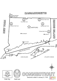 map of connecticut coloring page free printable coloring pages