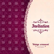 Invitation Card Border Design Burgundi Modern Invitation Card With Damask Ornament And Curly