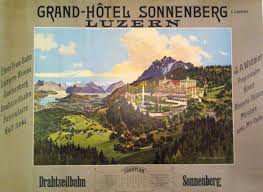 249 best swiss poster collection sans serif images on pinterest grand hotel sonnenberg luzern ca 1910
