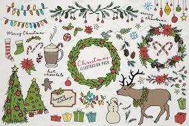 christmas u0026 holiday illustrations illustrations creative market