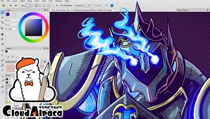 firealpaca color and effects speed paint youtube