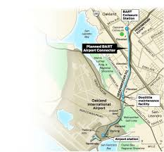 Bart San Francisco Map Stations Sky High Cost Of Bart Oakland Airport Link Sfgate