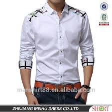 2017 long sleeve extraodinary fashion design dress shirts for men