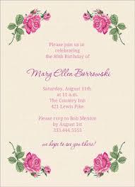 80th birthday invitations floral 80th birthday invite 80th birthday invitations