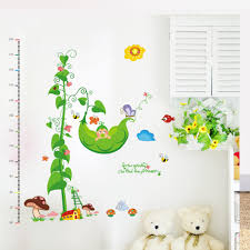 cheap kids height chart wall find kids height chart wall deals on 2015 new butterfly plant kids height chart wall stickers home decor cartoon pattern decals wall art