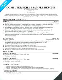 resume skills exle computer skills to put on a resumes what to put in skills for resume