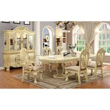 white formal dining room sets furniture of america grandberry traditional 7 piece dining table