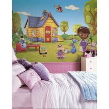 roommates 72 in x 126 in doc mcstuffins chair rail pre pasted