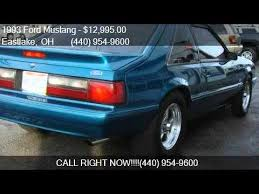 mustangs for sale in ohio 1993 ford mustang lx 5 0 2dr hatchback for sale in eastlake