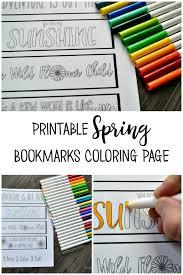 printable spring bookmarks coloring bookmarks kid