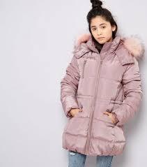 girls u0027 jackets u0026 coats denim jackets u0026 parka coats new look