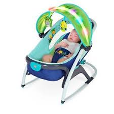 baby bouncer chair bright starts light up lagoon 2 in 1 delight
