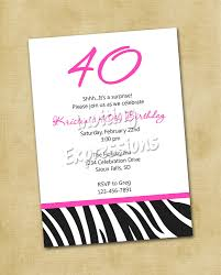 40th Birthday Invitation Ideas Cloveranddot Com