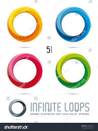impossible infinite loop vector logo design stock vector 159903461