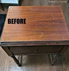 cheap sewing machine cabinets vintage sewing machine table makeover without refinishing painting