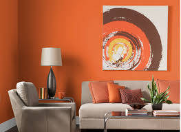 Front Room Ideas by Living Room Classical Orange Living Room With Brown Leather Sofa